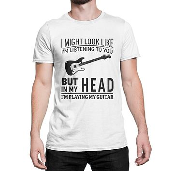 Guitar Shirt I'm Playing My Guitar T-Shirt Funny Guitar T-Shirt for Guitarist Dad Boyfriend