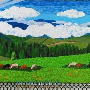 Handmade Art Tapestry Tapestry Wall Mural Classic Prairie Living Room Decoration Paintings Special Offer