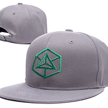 ZZZB Enlightenment Faction Converted Ingress Logo Adjustable Snapback Caps Embroidery Hats - Grey