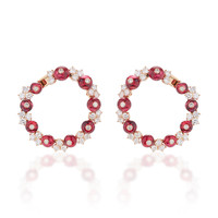 M'O Exclusive: Farandoles Earrings With Diamonds And Spinelles | Moda Operandi