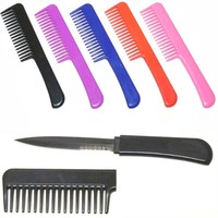 Concealed Knives Purple CIA Agent Comb with Hidden knife CKPP Knives For Sale and Swords 2013