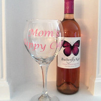 Personalized Moms Sippy Cup, Wine Glass, Gift For Her, Valentines Day Gift, Gift, wine glasses, Mothers Gift