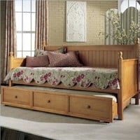 Fashion Bed Group Casey Daybed with Trundle, Honey Maple