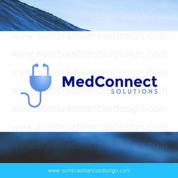 OOAK Premade Logo Design - Medical Plug - Perfect for a medical services website or a health consulting business