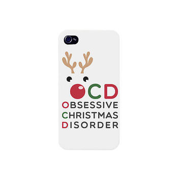 Cute OCD X-mas Phone Case - iphone 4 5 5C 6 6+, Galaxy S4 S5, LG G3, HTC One M8