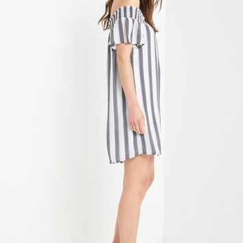 Rita Off the Shoulder Swing Dress
