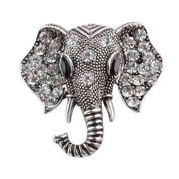 Animal Brooch pins And brooches for women Rhinestone Elephant Metal Fashion Jewelry broches Gift For Best Friends