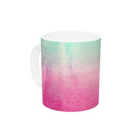 "Monika Strigel ""Sunny Melon"" Aqua Magenta Ceramic Coffee Mug"