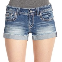 WallFlower Juniors Heavy Stitch Denim Shorts