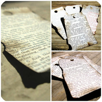 Scripture Tags - Set of 4 - Scrap Booking Tags - Hand Aged Tags - Gift Tags - Card Making Tags - Paper Goods - Vintage Tags - Christmas Gift