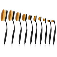 Prime Deal of The Day 2016 Professional 10 Pcs Soft Oval Makeup Brush Sets Foundation Brushes Cream Contour Powder Blush Concealer Cosmetic Brush Liquid Cream Makeup Cosmetics Tool Set For Face Eyes