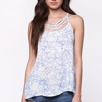 RVCA Younger Days Strappy Tank Top - Womens Shirts - Blue