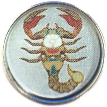 Scorpio Scorpion Art Deco Zodiac Sign Horoscope Symbol 18MM - 20MM Charm for Snap Jewelry New Item