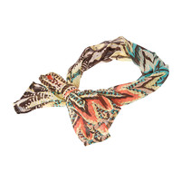 Multicolored Chevron Print Hair Scarf
