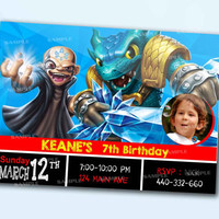 Skylanders Snapshoot Water the beautiful personalized card as a digital file