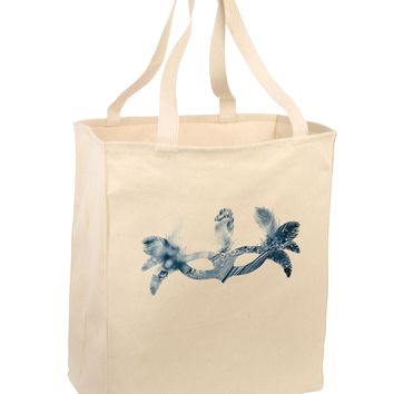 Water Masquerade Mask Large Grocery Tote Bag by TooLoud