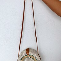 My Wicker Purse: Ivory/Green