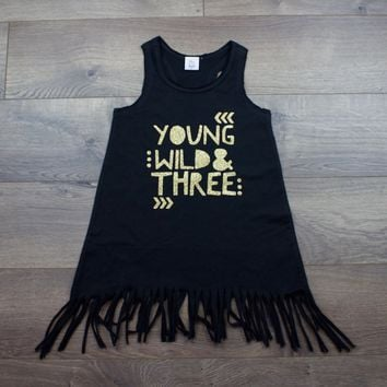 Young Wild and Three Fringe Dress
