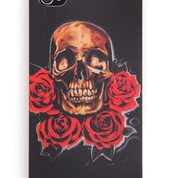 """Skull and Roses"" iPhone 4 Case (Black)"