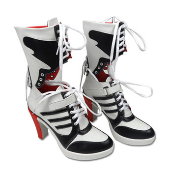 2016 NEW Suicide Squad clown harley quinn boots cosplay custom anime accessory props women shoes