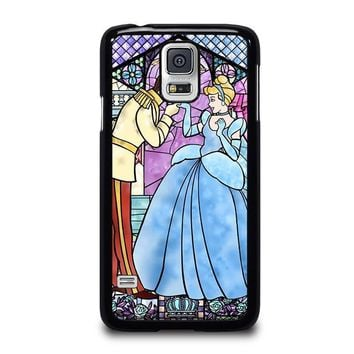 cinderella art glasses disney samsung galaxy s5 case cover  number 1