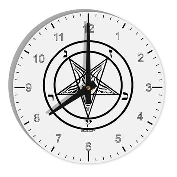 "Sigil of Baphomet 8"" Round Wall Clock with Numbers by TooLoud"