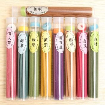Indoor Spices Sandalwood Clean Air A box of 50 Sticks incense Burners Aromatherapy Fragrance Spices Fresh Air Natural Aroma