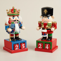 Christmas Countdown Nutcrackers, Set of 2 - World Market