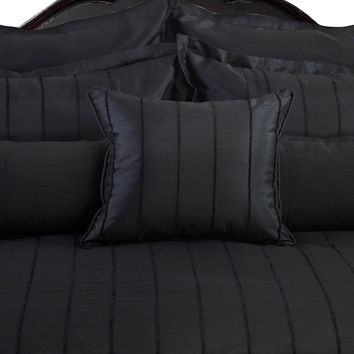 Veratax Home Decorative Bedding Collection Braxton Euro Sham Black
