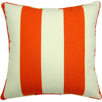 "Sunbrella Cabana Flame Indoor/Outdoor Pillow, 18"" x 18"""