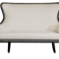 Uttermost Sandy White Loveseat - 23074