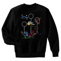 Quidditch Game Harry Potter Fan Art Sweatshirt by artbyljgrove
