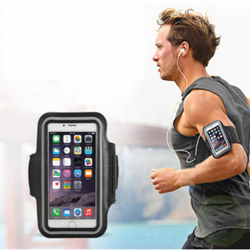 Fashion Washable Jog Sports Arm Band Gym Running Jogging Case For iPhone 5 5S 5G 5C SE 6 6S 7 Plus Workout Cycling Phone Case
