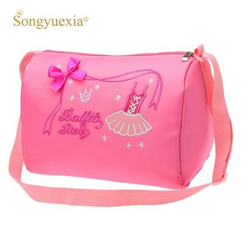 Pink Child Ballet Bag Kids Cavans Ballet Dance Bags Lovely Kids Women Crossbody Bag For Dance Ladies Girls Ballet Dance Bag