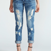 Neva Distress Wash Boyfriend Jeans