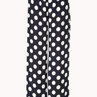 Dotted Wide-Leg Pants