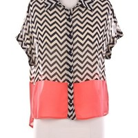 MONOCHROME PEACH BLOUSE from One Vault