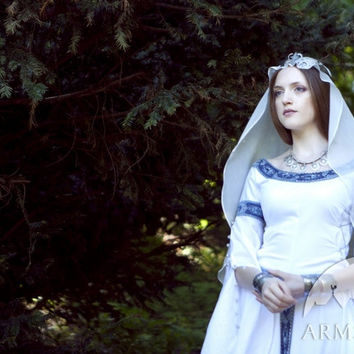 Medieval Fantasy Wedding Dress White Swan by armstreet on Etsy