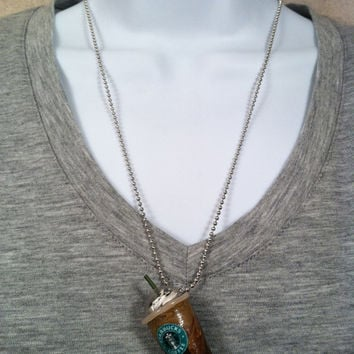 Starbuck's frappuccino necklace with lid