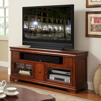 Empire 62 Inch Entertainment Cabinet TV Stand Cherry