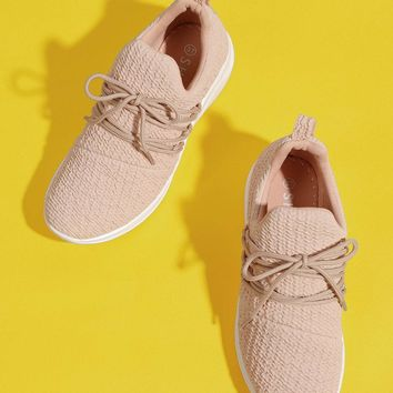 Embossed Lace Up Sneakers