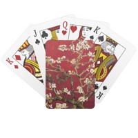 Almond Blossoms Red Vincent van Gogh Art Painting Poker Deck