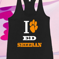 i love ed sheraan Screenprint For Tank top women and men unisex adult