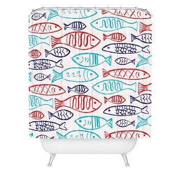 Zoe Wodarz Catch Of The Day Shower Curtain