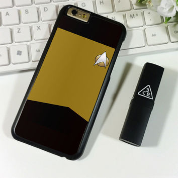 Star Trek TNG Uniform Yellow iPhone 6 Plus | 6S Plus Case Planetscase.com