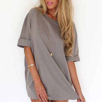 Mocha Tee Dress | SABO SKIRT