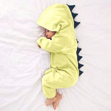 MUQGEW 2017 Baby Boy Girl Winter Dinosaur Hooded Romper Jumpsuit Outfits long sleeve Cartoon Clothes Recem Nascido Z06