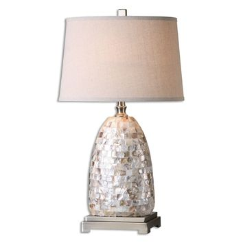 Capurso Capiz Shell Table Lamp by Uttermost