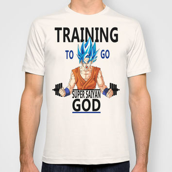 Training to go Super Saiyan God T-shirt by TxzDesign