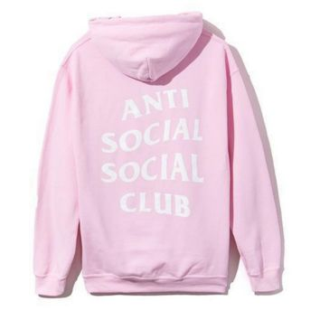 Womens PINK anti social social club sweatshirt hoodies
